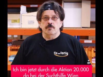 Franz Kainrath als Beispiel für die erfolgreiche Aktion 20.000 bei der suchthilfe wien und fix und fertig